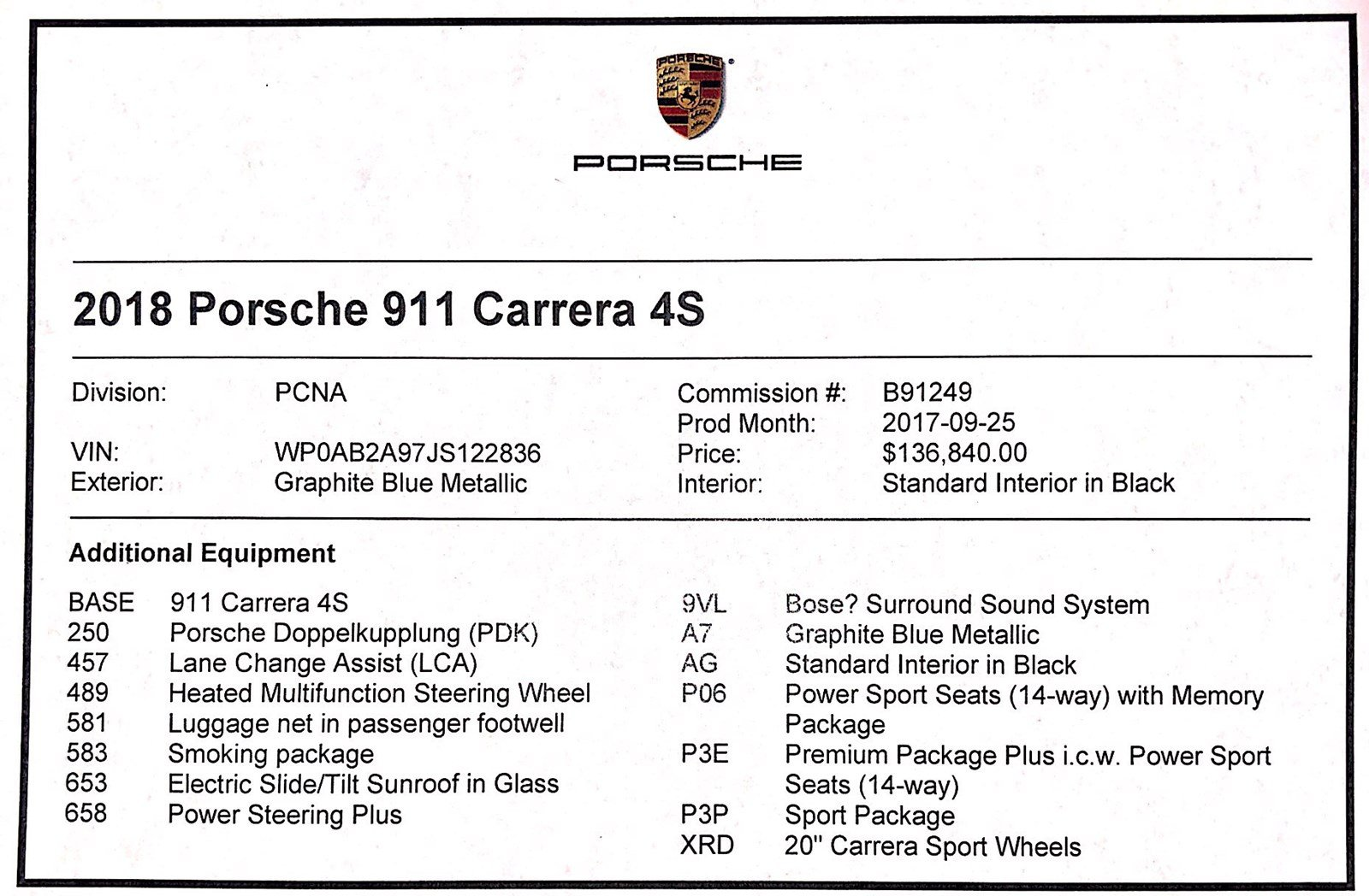 Certified Pre-Owned 2018 Porsche 911 Carrera 4S